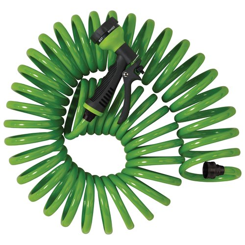 Orbit 25' Coil Hose with Multi-Pattern Sprinkler Nozzle