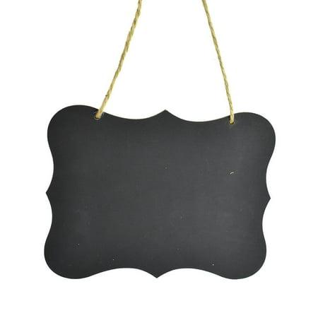 Hanging Scalloped Edge Chalkboard Sign, 8-1/4-Inch (Chalkboard Easel Sign)