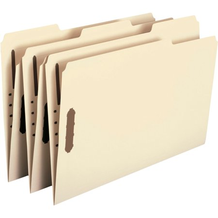 Smead, SMD19547, Recycled 2-Ply Manila Folders with Fasteners, 50 / Box, Manila Smead Recycled Fastener