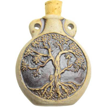 Oil Bottle Tree of Life Grown of Spirit Cork Cap Clay Bottle Necklace Style Carry Your Favorite Scent Around With You 2