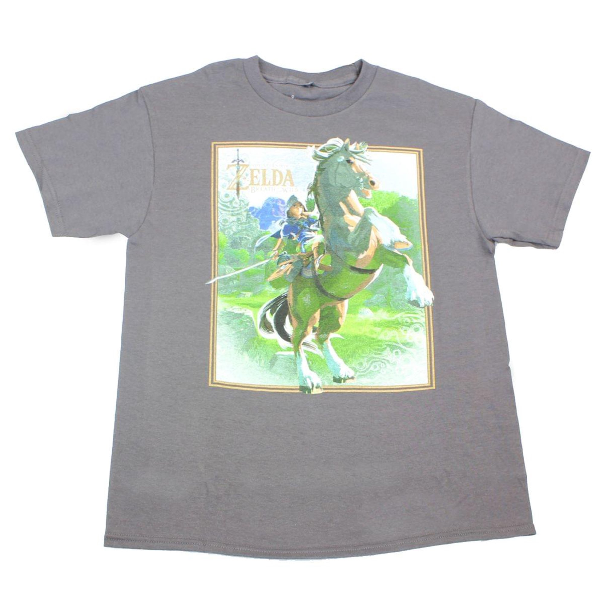 0e3d55f35aee6 Legend of Zelda: Breath of the Wild Link on Horse Grey Youth T-Shirt: Large  | Walmart Canada