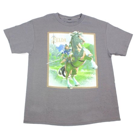 Legend of Zelda: Breath of the Wild Link on Horse Grey Youth T-Shirt