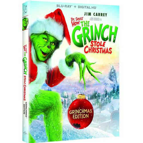 The Grinch Who Stole Christmas Book.Dr Suess How The Grinch Stole Christmas Grinchmas Edition Blu Ray Digital Hd Walmart Com