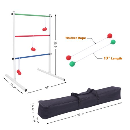 Ladder Toss Ball Game Set for Children and Adults Fun Game for Yard ()