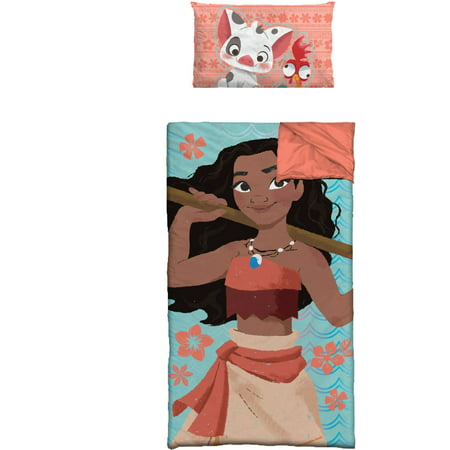 Disney Moana Movie Slumber Bag with BONUS Pillow ()