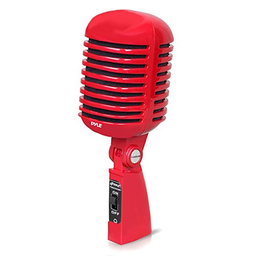 PDMICR42R Classic Retro Vintage Style Dynamic Vocal Microphone with 16ft XLR Cable (Red),... by