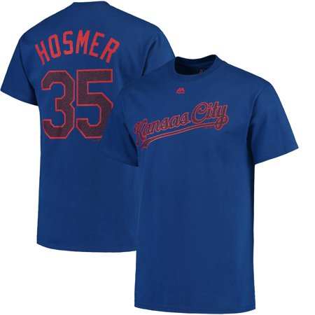 Eric Hosmer Kansas City Royals Majestic Stars & Stripes Name and Number T-Shirt - Royal