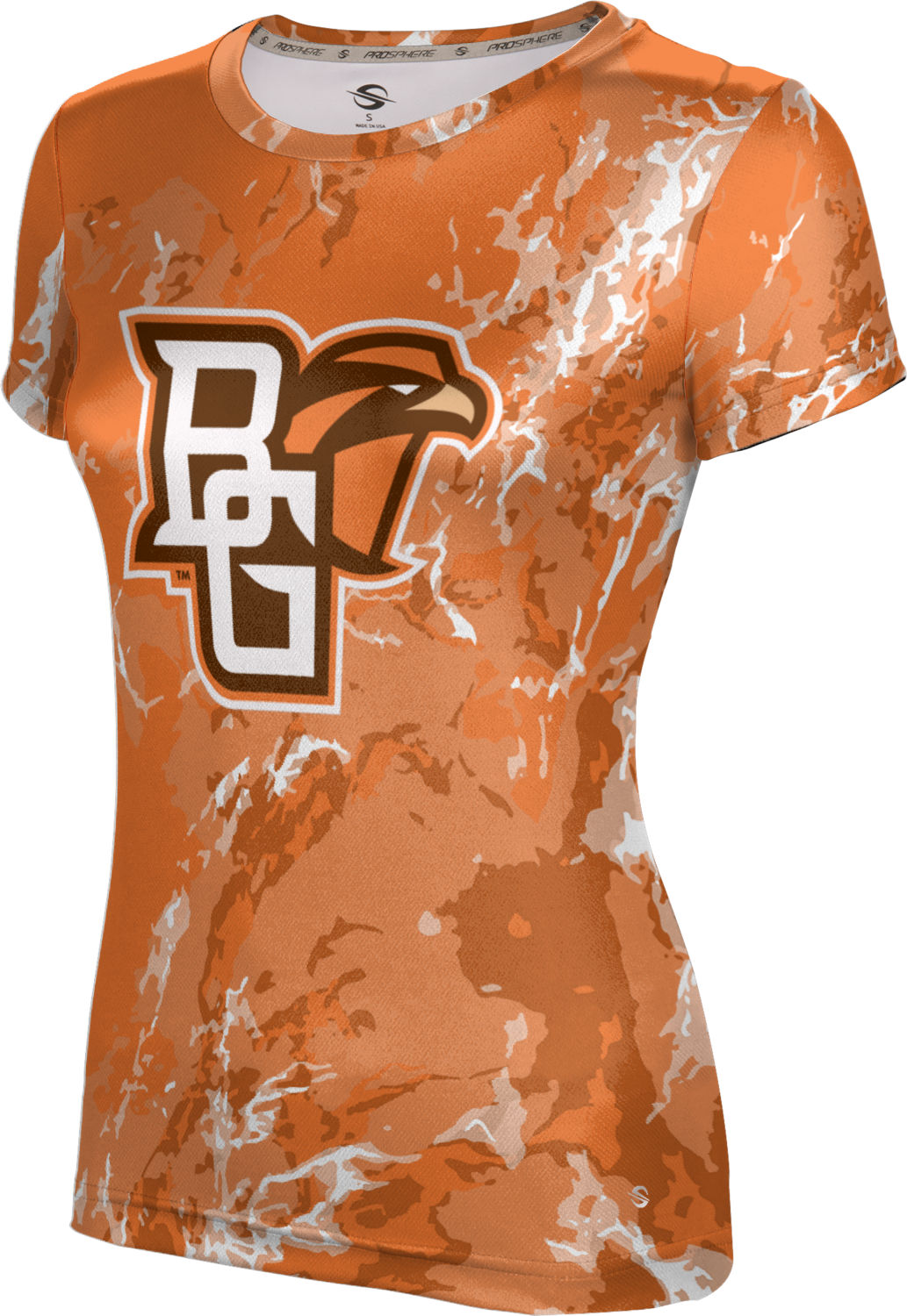 ProSphere Girls' Bowling Green State University Marble Tech Tee