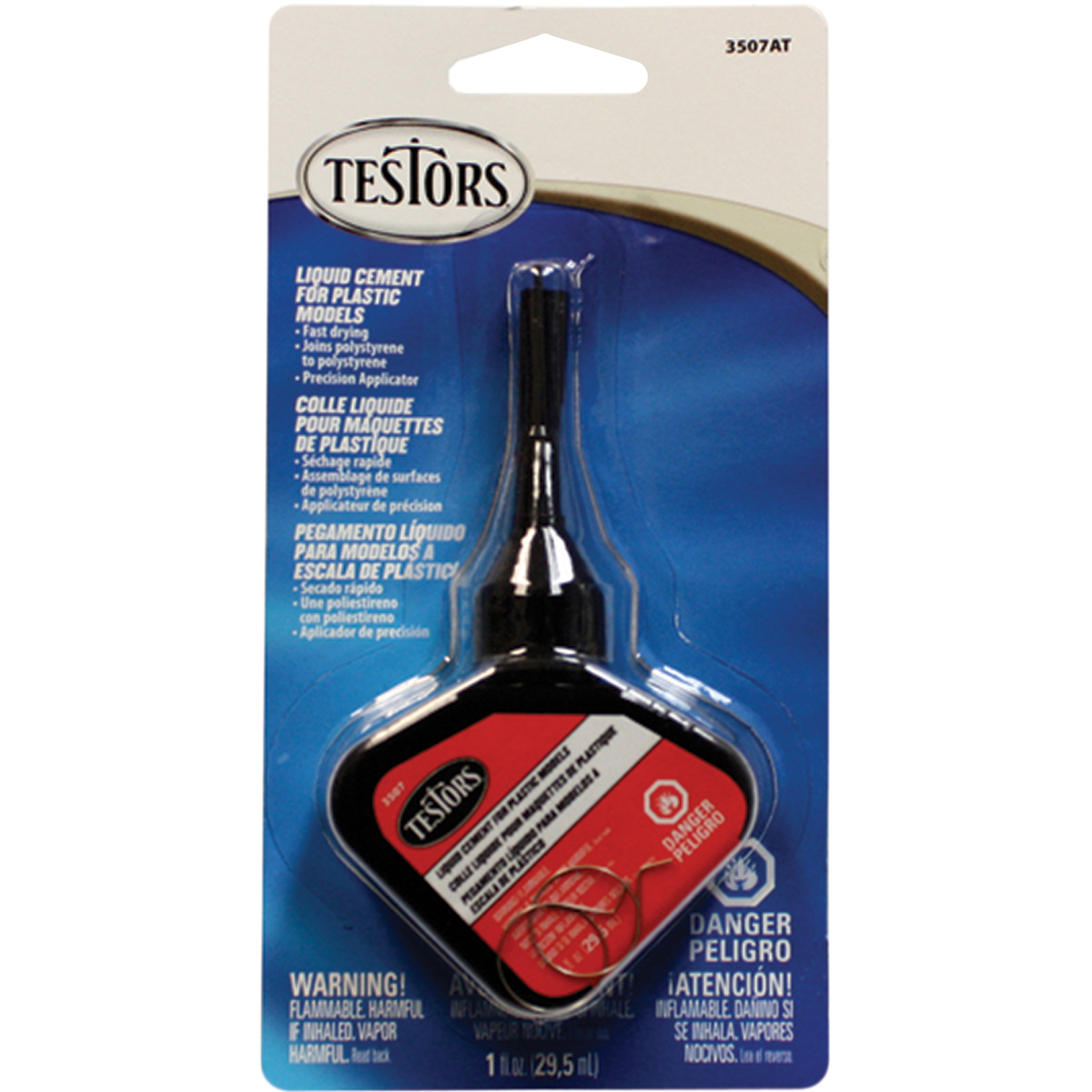 Testors 3507AT Liquid Cement for Plastic Models, 1-Ounce