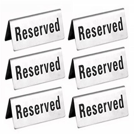 Reserved Table Signs 4.75x1.75 - 6 Pack for $<!---->