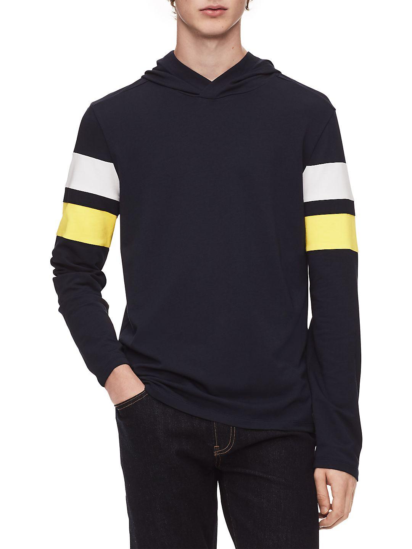 Colorblock Hooded Sweatshirt