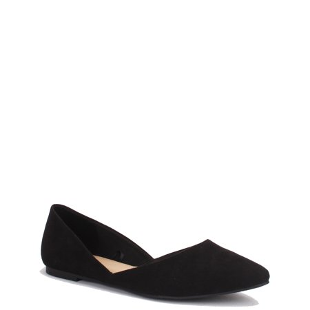 Time And Tru Women's Point Ballet Flat