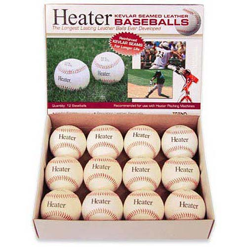 12 Pack Trend Sports Heater Leather Pitching Machine Baseballs PMBL44