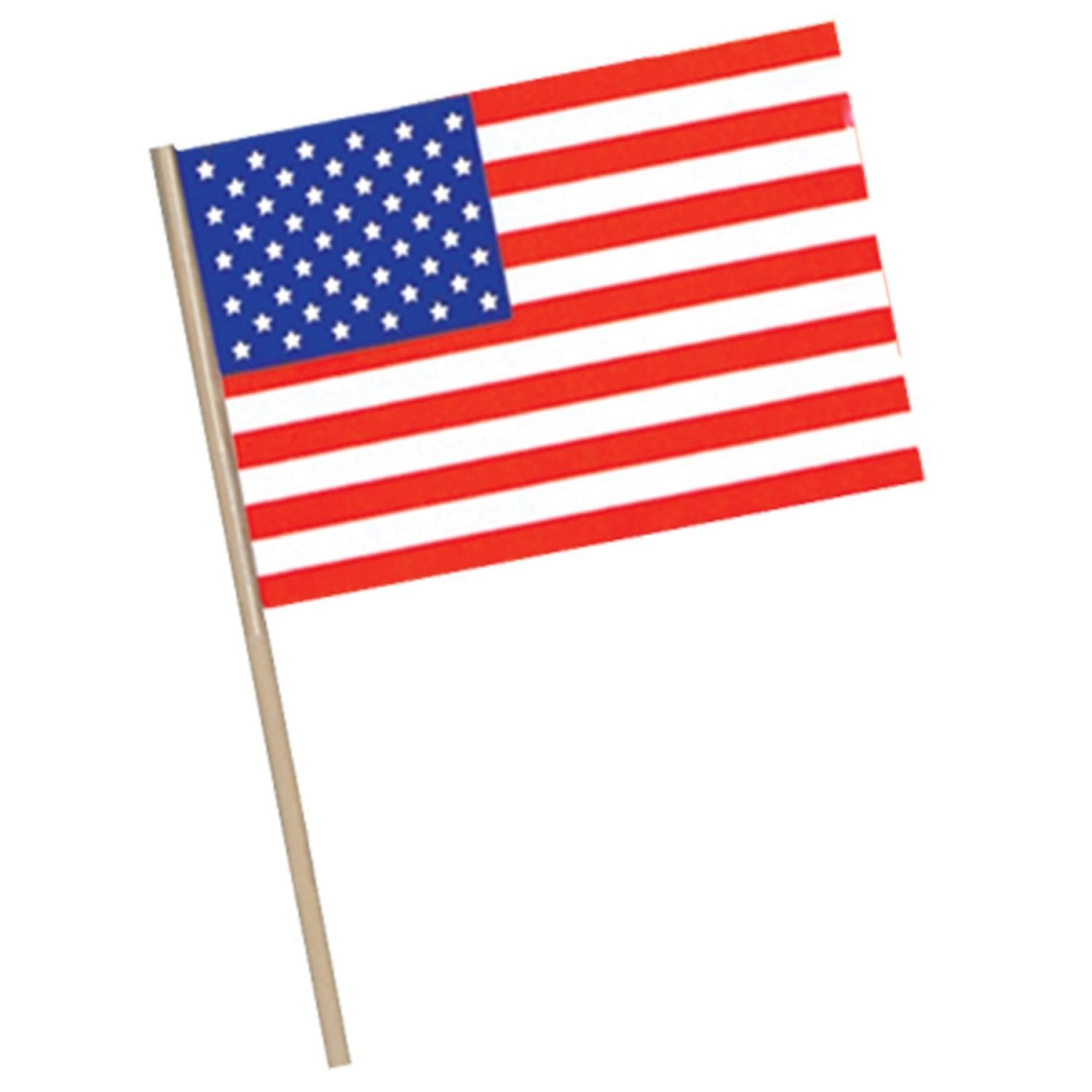 Club Pack of 144 Patriotic Themed Red, White and Blue American Flag Party Decorations 7.5""