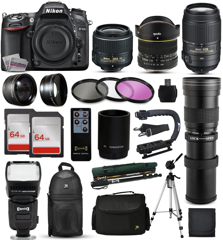 Nikon D7100 DSLR Digital Camera + 18-55mm VR II + 6.5mm Fisheye + 55-300mm VR + 420-1600mm Lens + Filters +... by Nikon