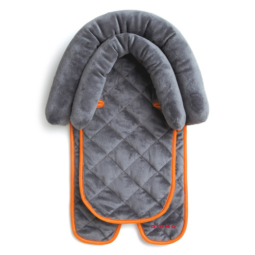 Diono 2-in-1 Infant Head Support Pillow, Gray