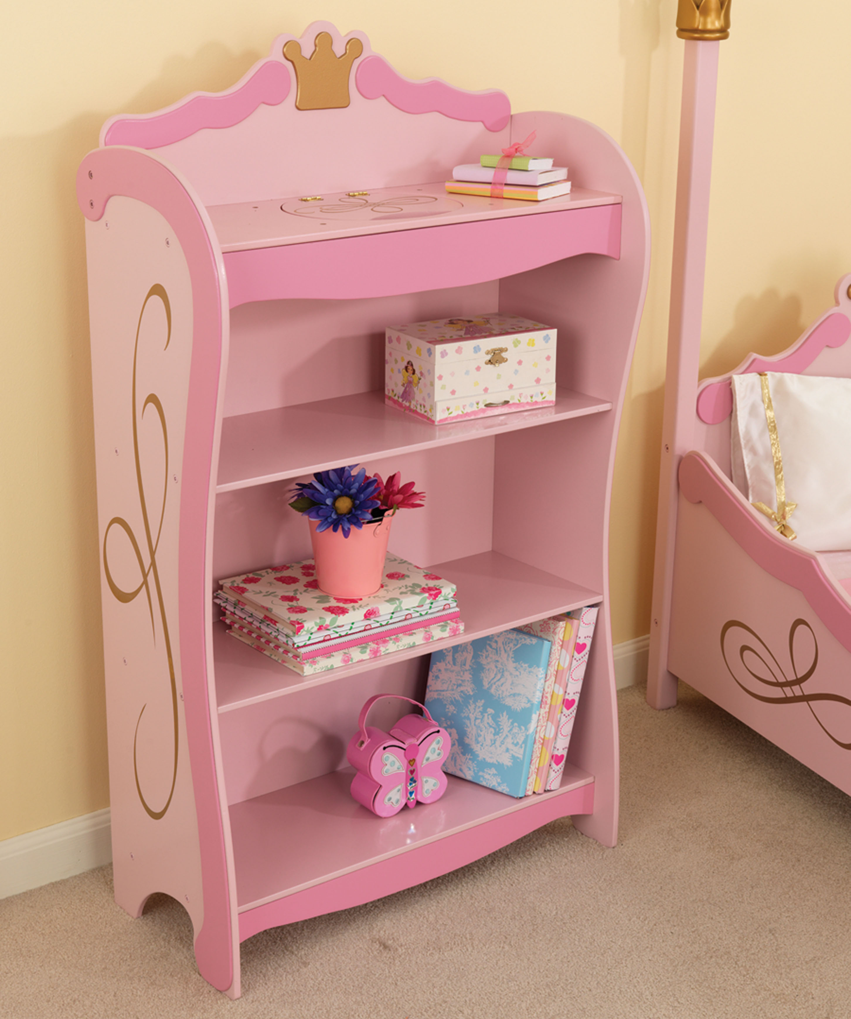 kidkraft princess bookcase walmart