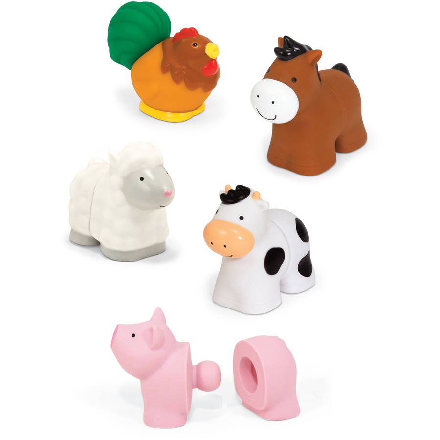 Melissa & Doug Pop Blocs Farm Animals Educational Baby Toy 10 Linkable Pieces by Melissa %26 Doug