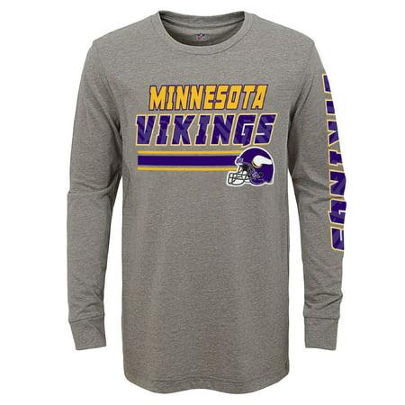 Minnesota Vikings Petite Purse - Youth Gray Minnesota Vikings Tri-Blend Long Sleeve T-Shirt