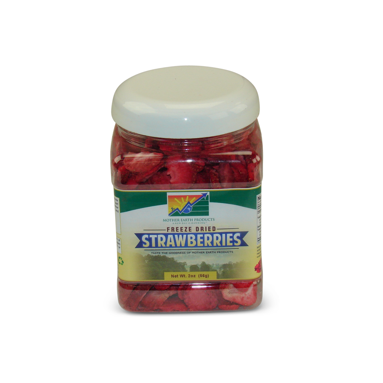 Mother Earth Products Freeze Dried Sliced Strawberries, jar by Mother Earth Products