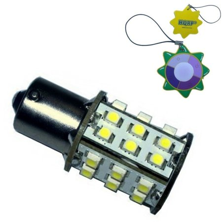 HQRP BA15s Bayonet Base 30 LEDs SMD LED Bulb Cool White for #93 1141 1156  1073 1093 1129 Replacement plus HQRP UV Meter