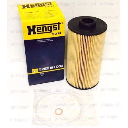 E39 Oil Filter Kit - BMW 4.4L ENGINE E38, E39, X5, OEM HENGST OIL FILTER 11427510717, E202H01D34