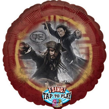 Pirates of the Caribbean 'Dead Man's Chest' Singing Foil Mylar Balloon (1ct)](Singing Balloons)