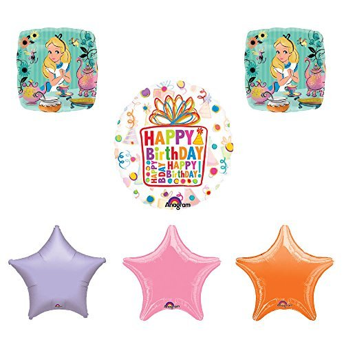 ALICE IN WONDERLAND Tea Party Birthday Balloons Decoration Supplies