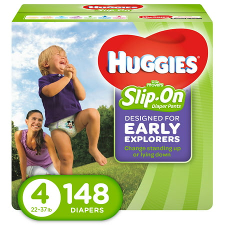 HUGGIES Little Movers Slip-On Diaper Pants (Choose Size and