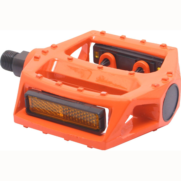 "Orange Bicycle Pedals 90 X 98 Mm Replacement Bike Part 9/16"" Spindle"