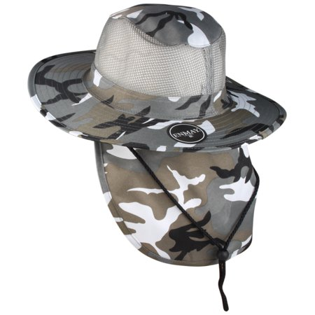 7f5440da Enimay Outdoor Hiking Fishing Snap Brim Hat With Neck Flap 3652 City Camo  Large