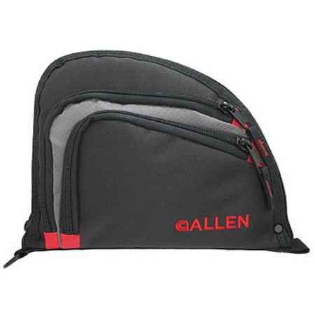 "Allen Auto-Fit Single Handgun Case, 9.5"" x 7.25"", Black/Red by Allen Company thumbnail"
