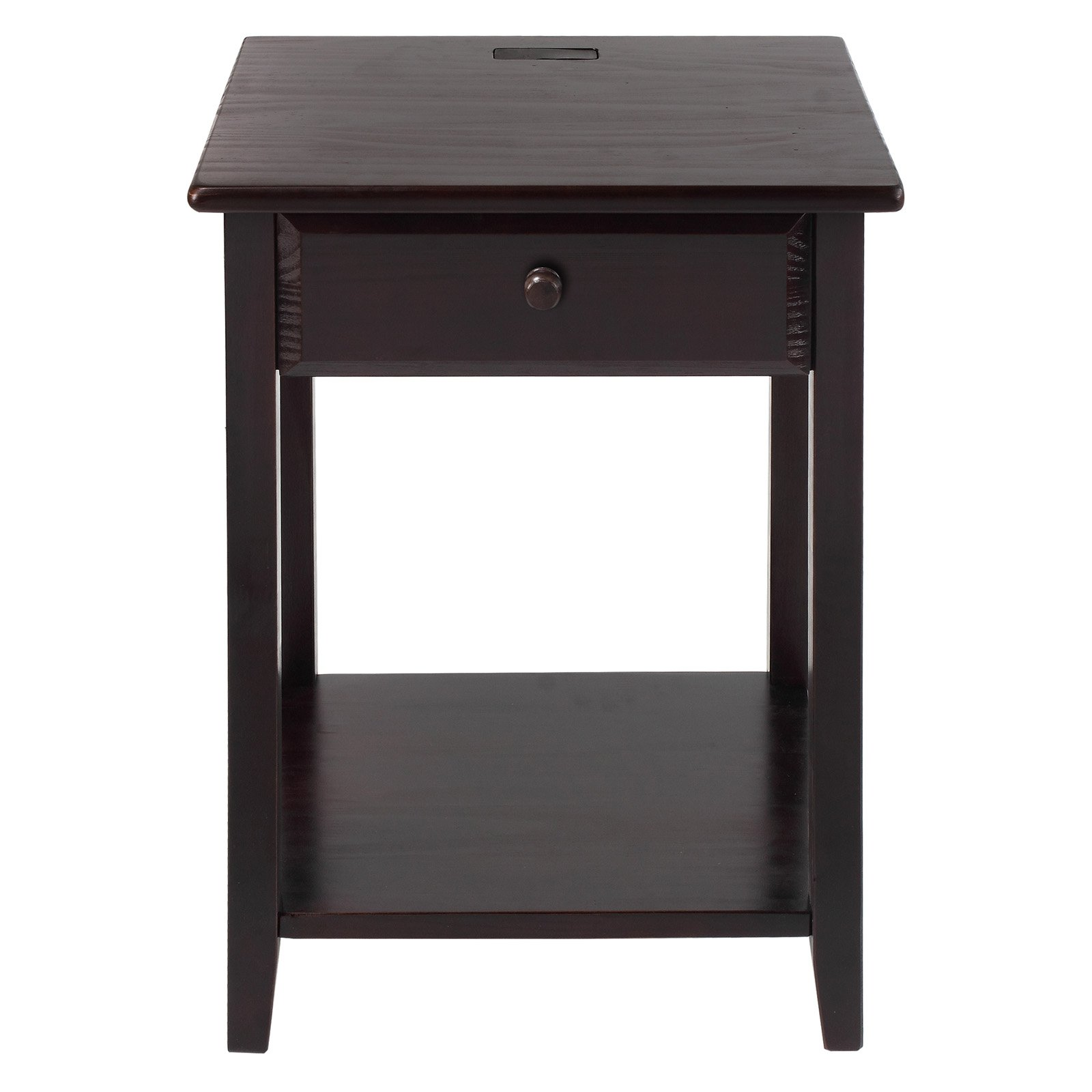 Casual Home Night Owl 1 Drawer Nightstand with USB Port by Overstock