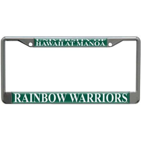 Hawaii Rainbow Warriors Metal License Plate Frame w/Domed Acrylic ...