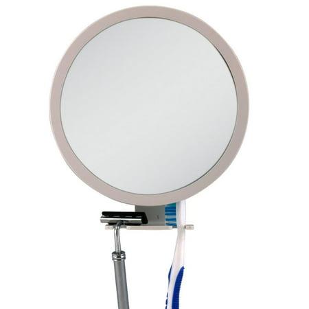 Zadro Fogless Shower Shaving Mirror (5X - 1X Adjustable Ultra Fogless Shower Mirror, Break-resistant shower mirror with fog-free coating and razor holder By Zadro)
