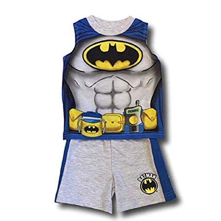 Baby Batman Outfit (Batman _ Baby Boys Tank top and Shorts Outfit Pajamas)