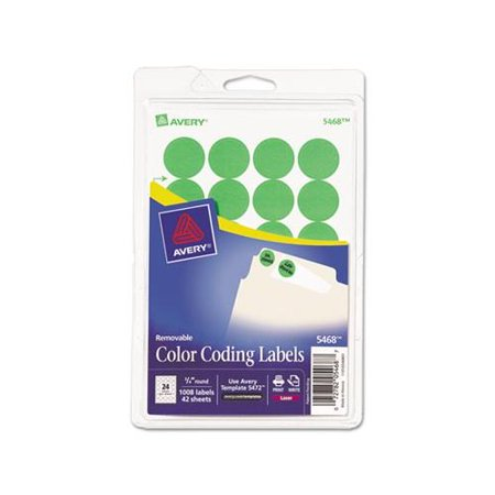 Avery Light (Avery Neon Green Color Coding Labels 5468, 3/4