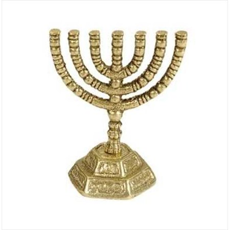 - 4341 Menorah Decorative Mini Silvertone 7 Branched 3 In.