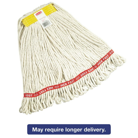 Rubbermaid Commercial Web Foot Wet Mops, Cotton/Synthetic, White, Small, 1