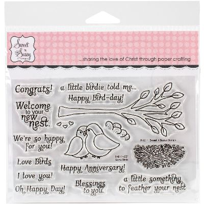 "Sweet 'n Sassy Clear Stamps 4""X6""-Love Birds"