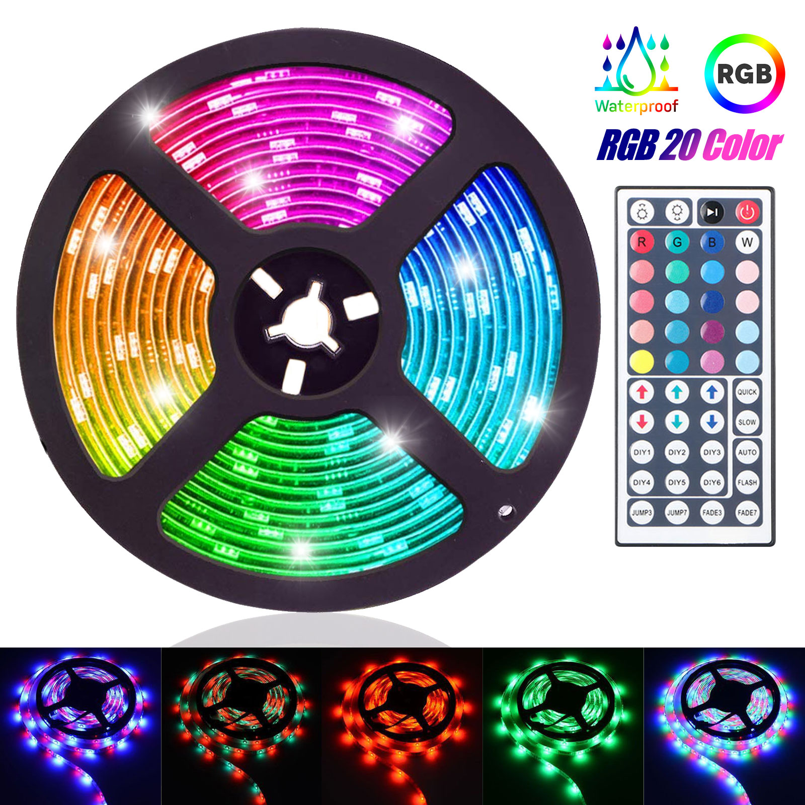 Tsv 16 4ft 5m 300led Rgb 20 Muliticolor