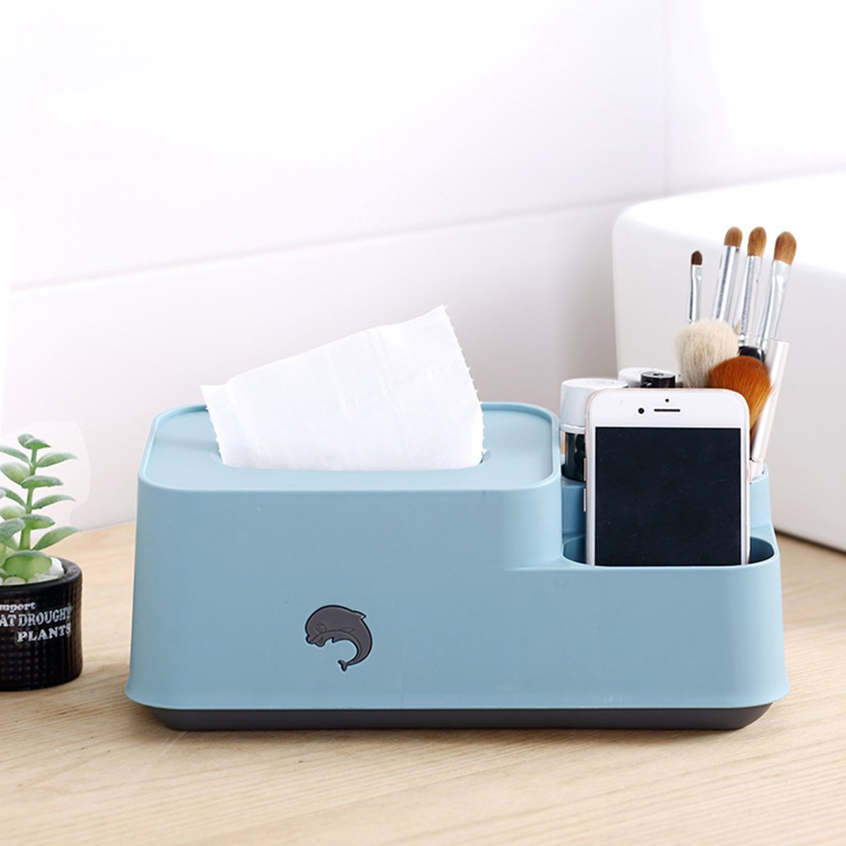 Multi Purpose Tissue Box Pp Plastic Household Desktop Paper Towel Holder Napkin Remote Control Sundries Storage Case Walmart Canada