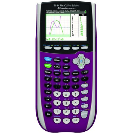 Texas Instruments TI-84 Plus C Silver Edition Graphing Calculator,