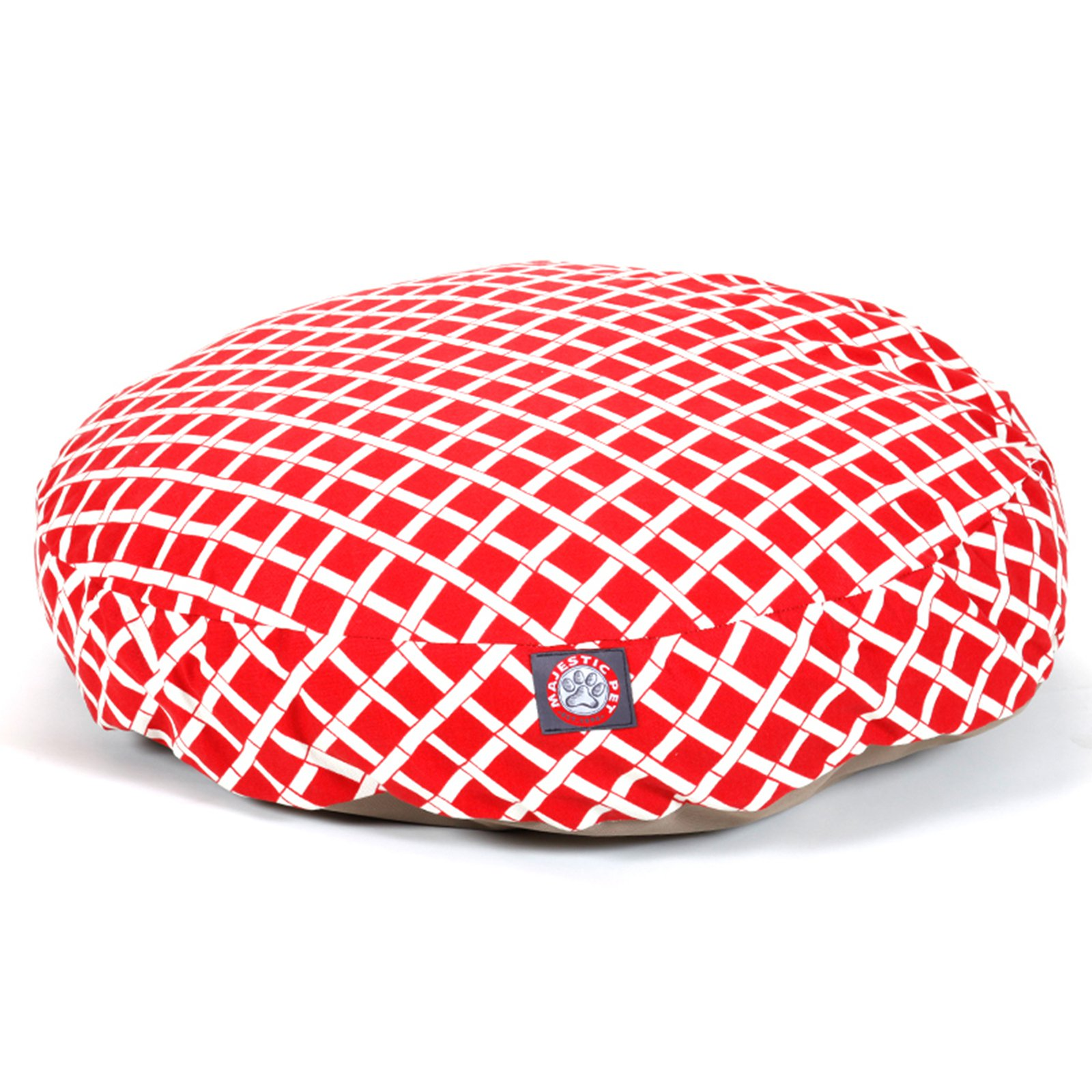 Majestic Pet Products Bamboo Round Pet Bed, Red