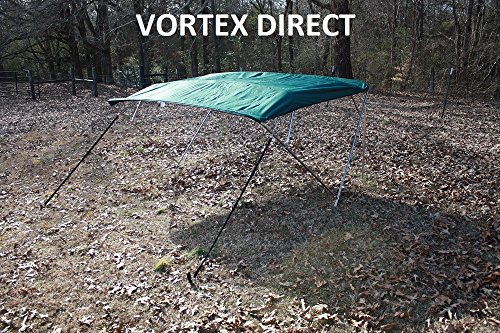 """New GREEN STAINLESS STEEL FRAME VORTEX 4 BOW PONTOON DECK BOAT BIMINI TOP 8' LONG, 97-103"""" WIDE (FAST SHIPPING 1 TO... by VORTEX DIRECT"""