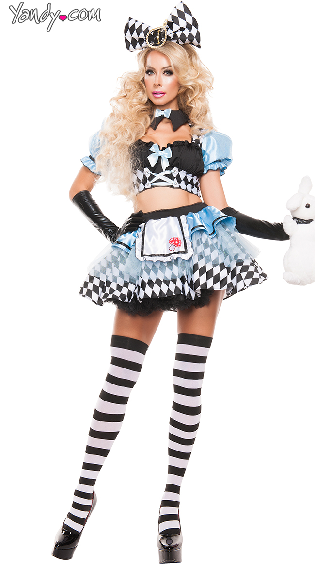 crazy alice costume sexy wonderland hottie costume walmartcom