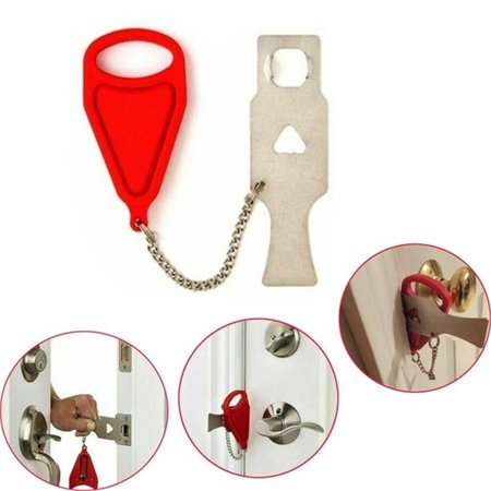 1/2pcs Portable Door Lock, Travel Lock, School Lockdown Lock,Safety Lock for Travel,Home,Apartment Living,Hotel and