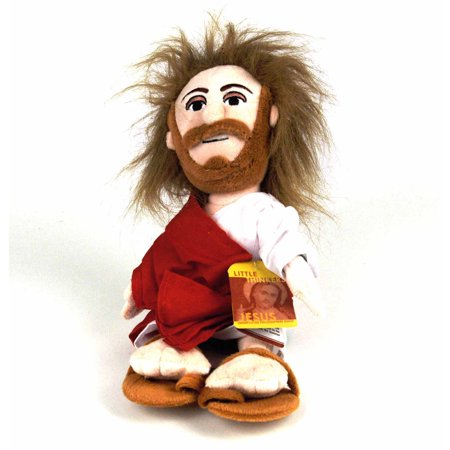 Jesus Little Thinker Plush Doll Religious Novelty Christ Funny Gift Catholic