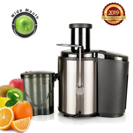 Clearance! Juicer Machines, Easy Clean Electric Juice Extractor with Wide Mouth, 800W Stainless Steel Centrifugal Juicer with Juice Container, Blender for Fruit Vegetable, Anti-drip, BPA-Free, I7597