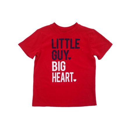Toddler Boys Red Little Guy Big Hearts Valentine's Day T-Shirt 3T